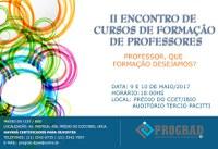 II Encontro dos cursos de Formação de Professores da UNIRIO